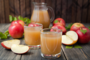 Apple juice for diet