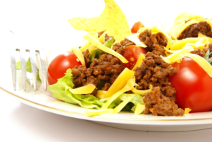 Keto Lunch Taco Salad with Ground Beef